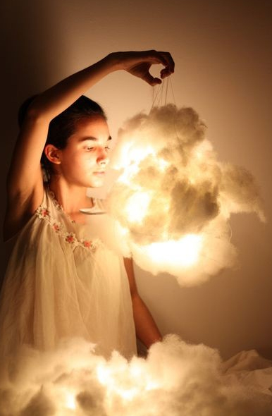 DIY Cotton Cloud Lamp