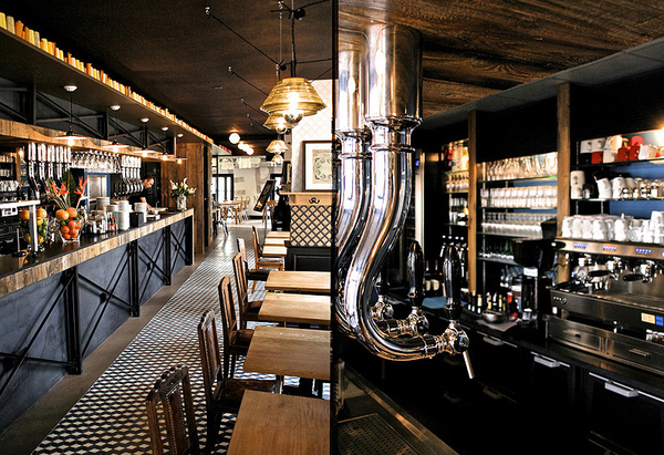 Modern French Cafe Interior Design