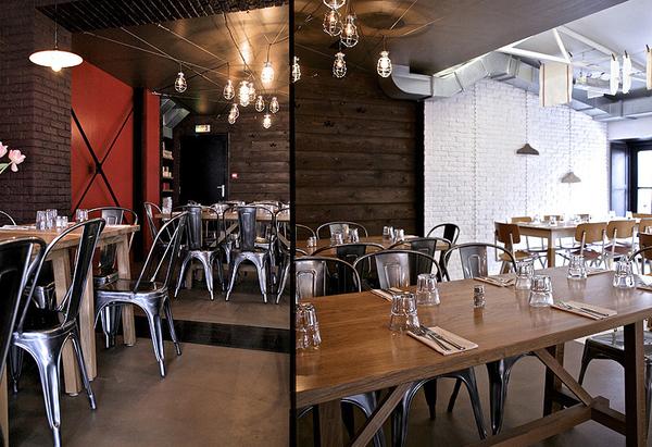 Interior design showcase a french café and restaurant