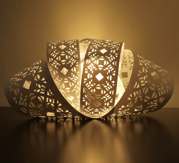 Laser Etched Paper Lamp