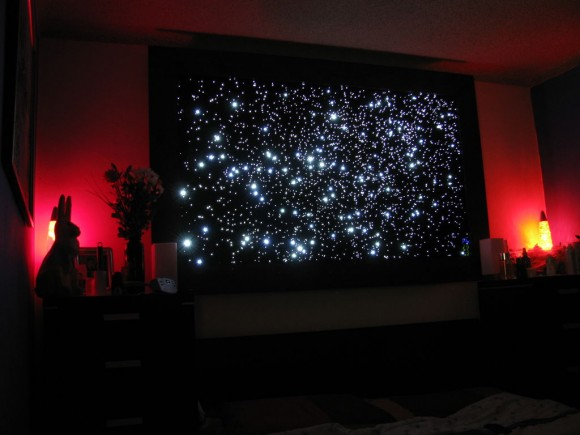Star Map Wall Fiber Optics