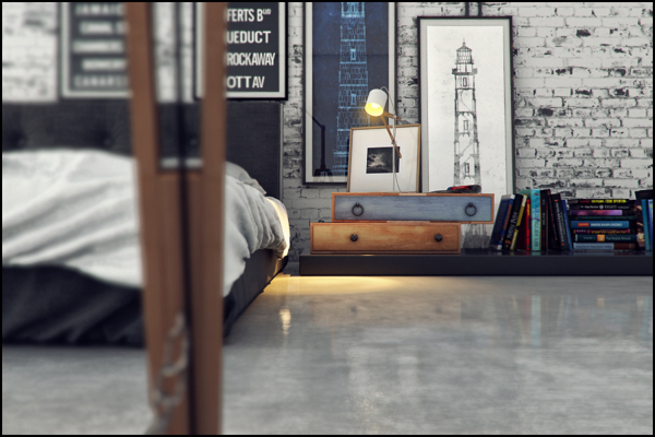 Industrial Bedroom Interior Design