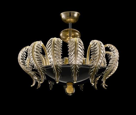 leaf pendant chandelier