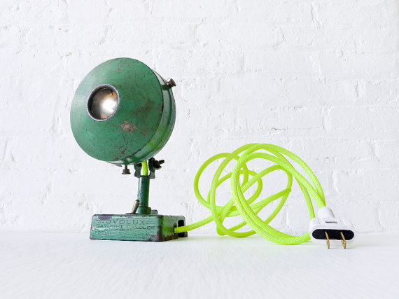 Neon Vintage Recycled Lamp