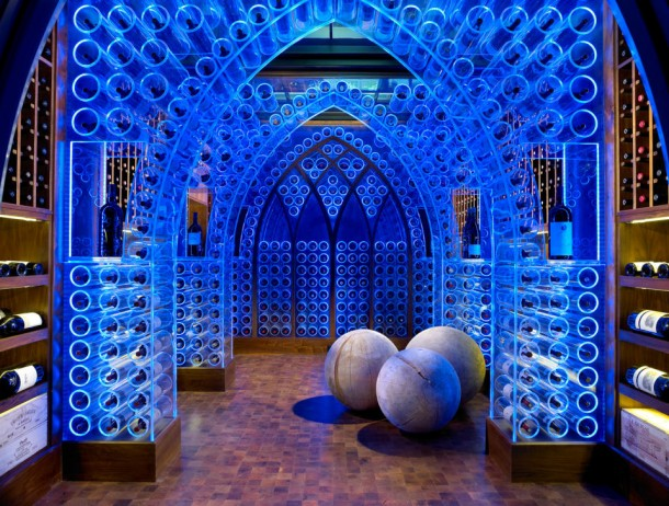 luxury LED wine cellar