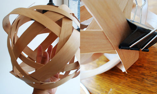 Woven Wooden Light
